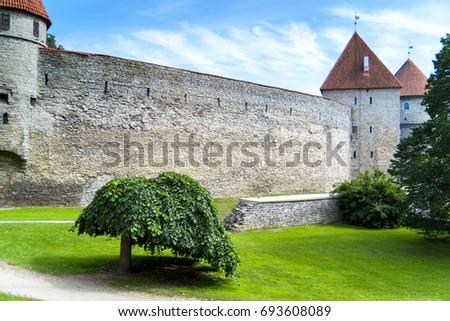 Sightseeing of the enchanting ancient old town, Tallinn city, Estonia