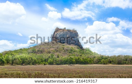 Sigiriya Rock Fortress, 5th Century�s Ruined Castle That Is Unesco Listed As A World Heritage Site In Sri Lanka
