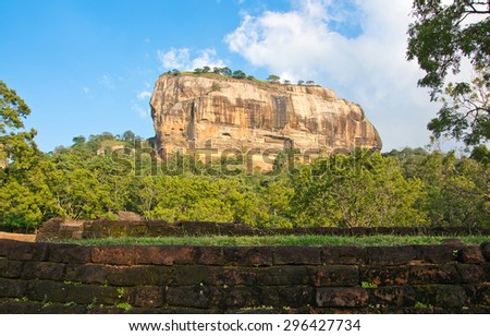 Sigiriya Rock Fortress 5thCenturys Ruined Castle That Is Unesco Listed As A World Heritage Site In Sri Lanka