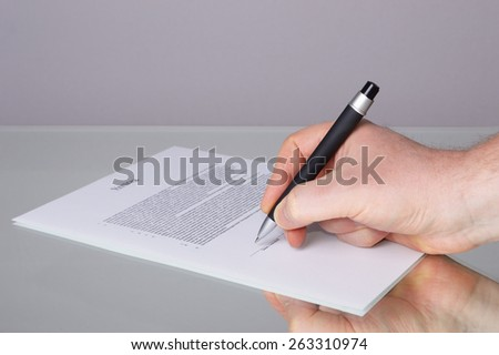 sign a contract - stock photo