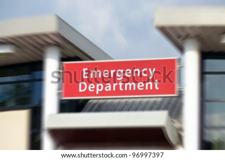 Emergency department stock images royalty free images vectors sign above the emergency department in nhs hospital zoom effect centered on sign sciox Image collections