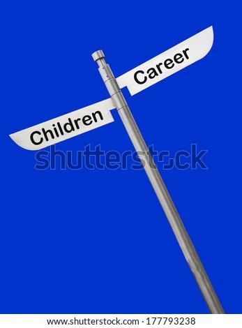 sign children career choice slanted - stock photo