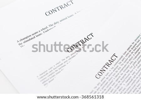 Sign Contract - stock photo