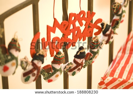 Sign decoration of MERRY CHRISTMAS