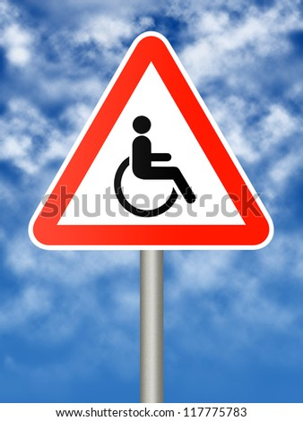 Sign - disabled person