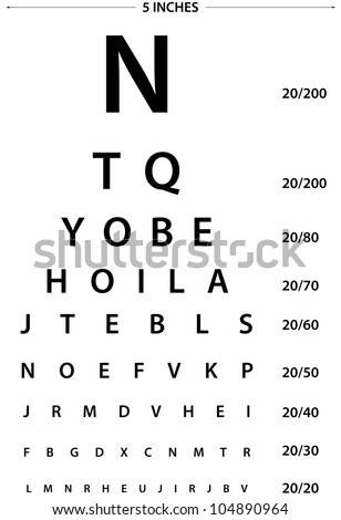 Sign for eye test use by doctors - stock photo