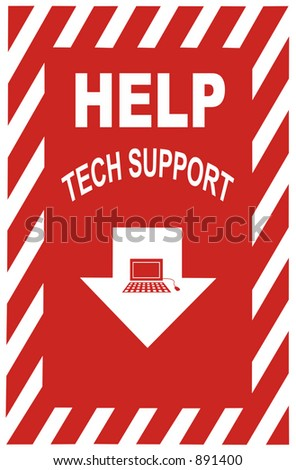 Sign for helpdesk - stock photo