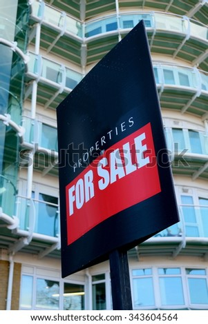 Sign for properties for sale - stock photo