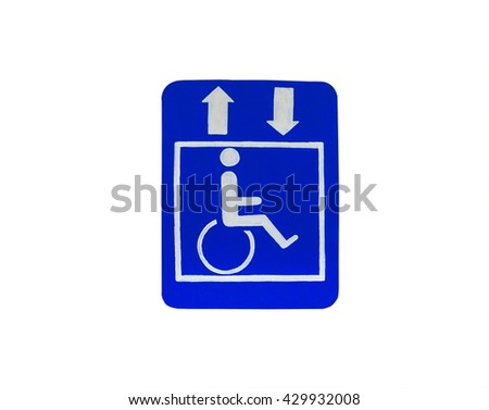 Sign For the disabled,isolated - stock photo