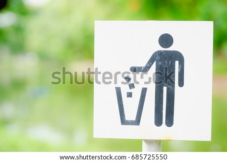 Trash Bin Sign Signs Symbol Ecology Recycle Litter Png Html