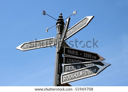 sign Guidance - stock photo