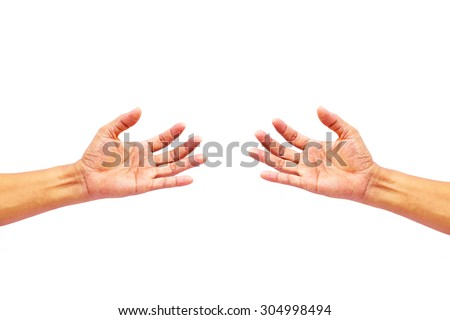 Sign hand image for design working.