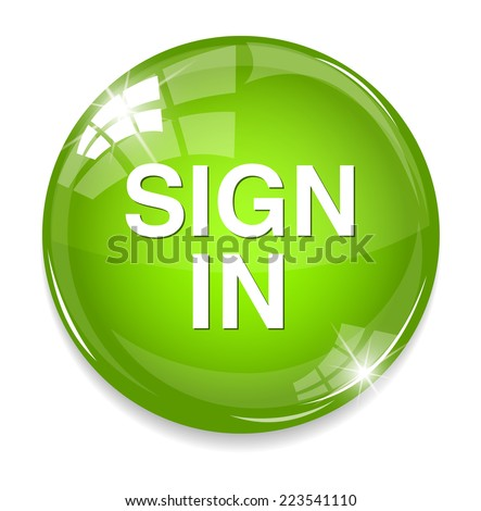 Sign in button - stock photo