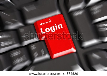 sign in or login on internet webpage concept with keyboard key - stock photo