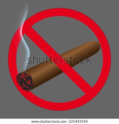 Sign no smoking - stock photo