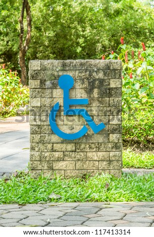 Sign of a handicap accessible. - stock photo