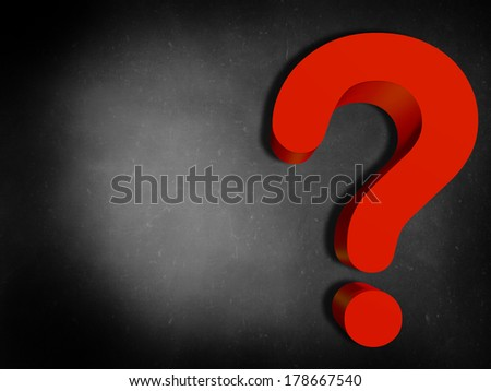 sign of interrogation 3d, background - stock photo