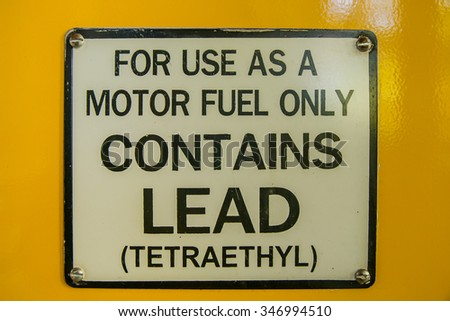 sign of motor fuel  - stock photo