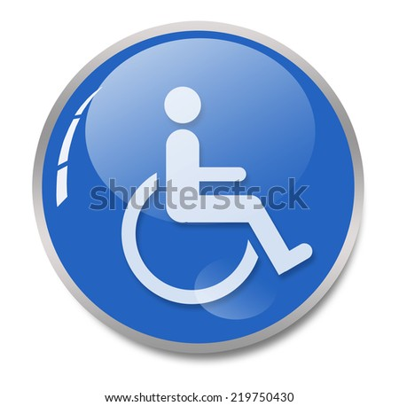 sign of person on wheelchair - stock photo