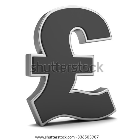 Sign of pound isolated on a white background