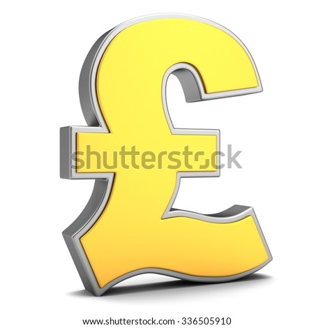Sign of pound isolated on a white background - stock photo