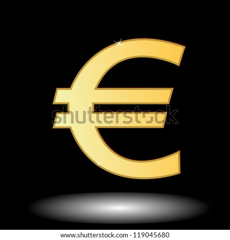 Sign of the European currency in unique style