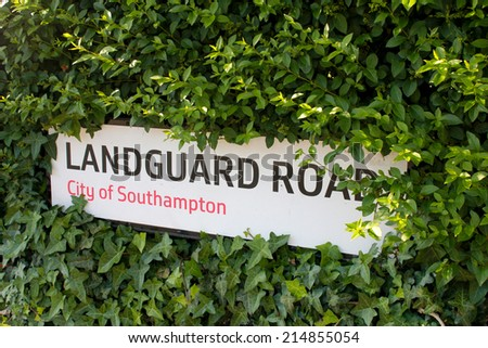 Sign of the Street Name in Southampton, UK - stock photo