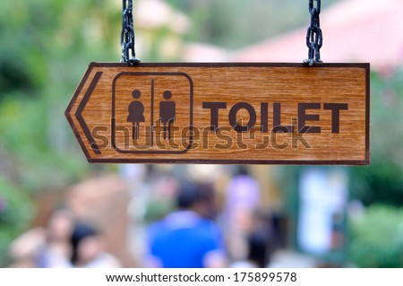 Sign of the Toilet WC - stock photo