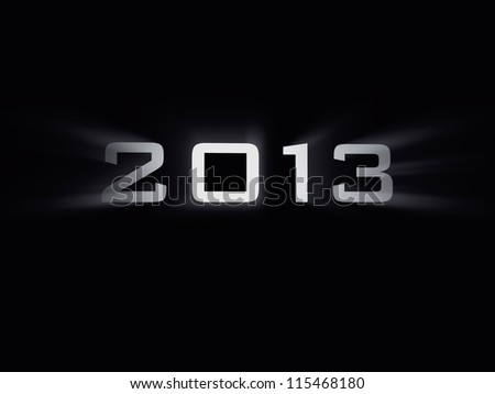 sign of 2013 year - stock photo