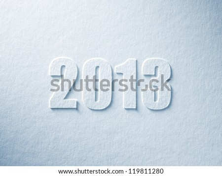 sign of 2013 year on textured paper - stock photo
