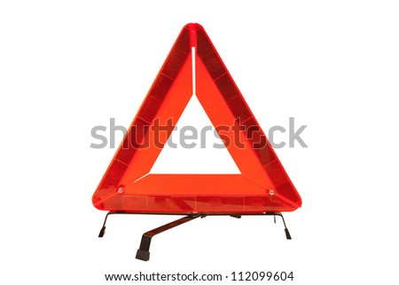 Sign on an emergency stop isolated under the white background