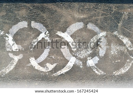 Sign on Rusty metal grunge background