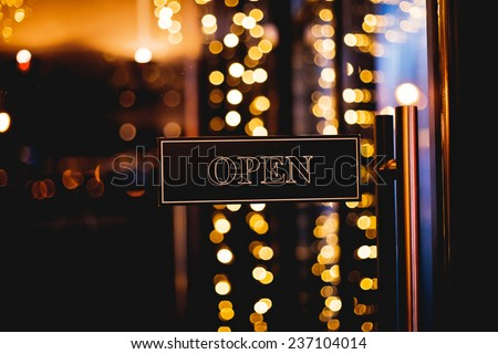 Sign open - stock photo
