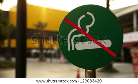 Sign or Symbol of No Smoking Area. - stock photo