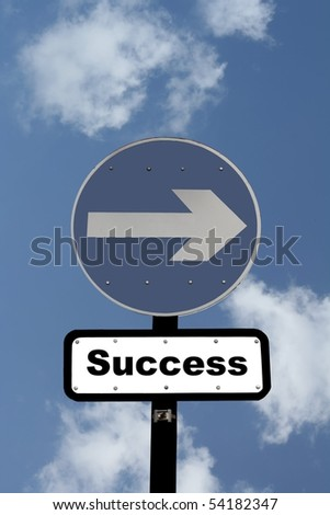 Sign Pointing the Way to Success