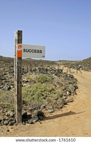 Sign post - SUCCESS - stock photo
