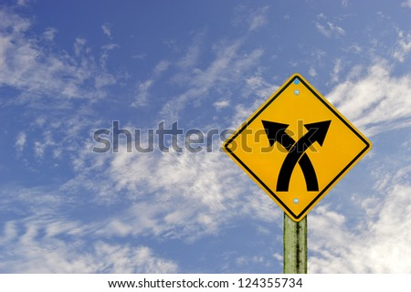 sign road on  board with sky background,abstract sign,business  symbol. - stock photo
