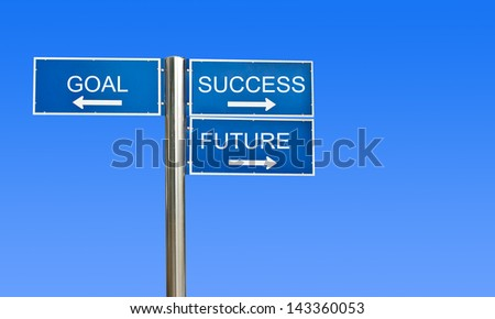 sign road with blue sky background