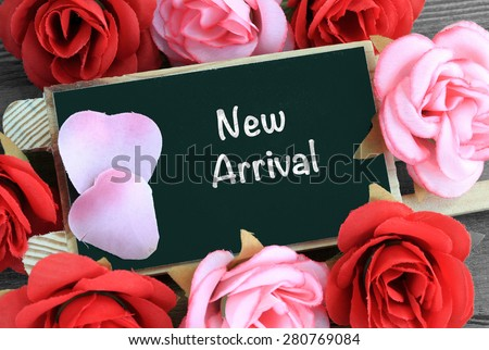 sign show the message of New Arrival - stock photo