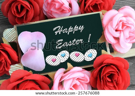 sign showing the message of happy easter - stock photo