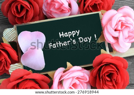 sign showing the message of Happy Father's Day - stock photo