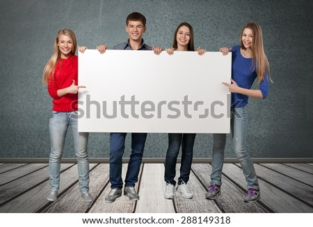 Sign, Student, College Student. - stock photo