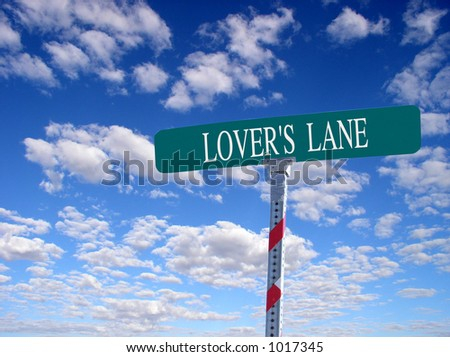 "sign that reads ""Lover's Lane"""