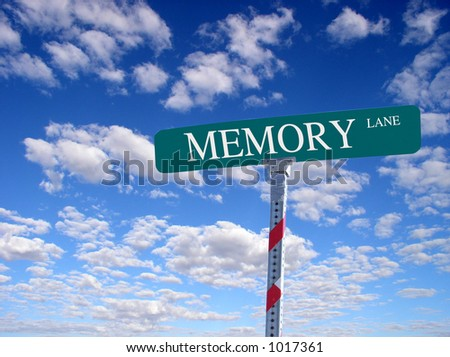 "sign that reads ""Memory Lane"""