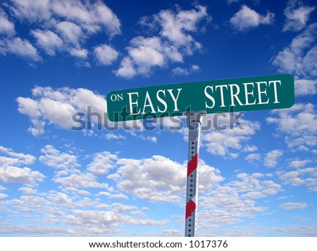 "sign that reads ""On Easy Street"""