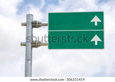 Sign traffic green - stock photo