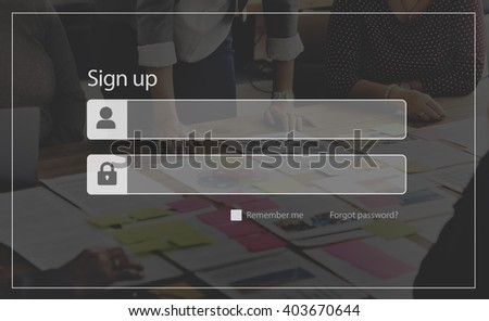 Sign Up Account Member Subscribe Registration Concept - stock photo