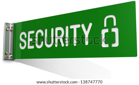 Sign up at Security Department office wall symbol - stock photo