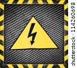 sign warning of high voltage - stock