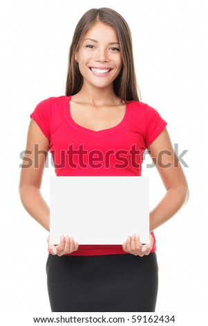 Sign woman isolated